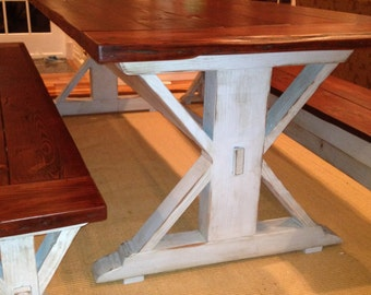 Wicomico Turnbuckle Dining Table Farmhouse Reclaimed Wood