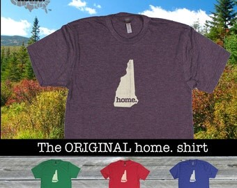 New Hampshire Home. shirt- Men's/Unisex Next Level