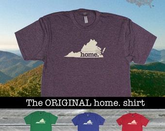Virginia Home shirt Men's/Unisex SOFT green blue red purple