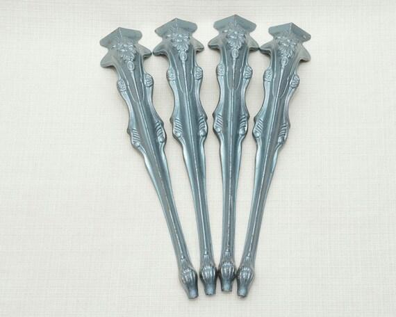 4 vintage decorative metal table legs - Decorative metal table bases ...