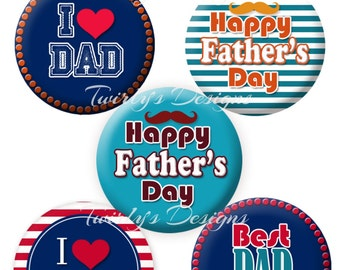 """INSTANT DOWNLOAD Father's Day 1"""" bottle cap images - 4 X 6 Digital Collage Sheet #2 Cupcake Topper  Bottle cap keychain Craft Supplies"""