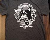 Boston men / unisex shirt terrier dog pug boxer shirt brass knuckles roses tattoo rockabilly