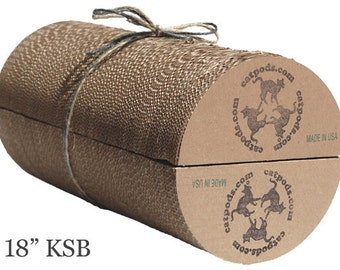 """2 XL Kitty Speed Bumps 18"""" Deal - Eco-friendly trendy cardboard cat scratcher pillow pet bed furniture unique great gift for pets"""
