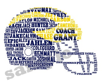 FOOTBALL TEAM: Personalized