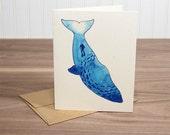 Whale - blank notecard