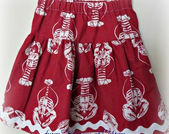 New! Lobster Print Skirt from Keepers at Home