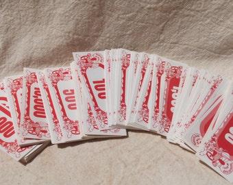 Vintage Casino Money Marker Tickets