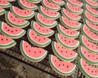 Watermelon sugar cookies... birthday sugar cookies... summer sugar cookies