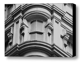 Modern Black and Grey Wall Art • New York Architectural Photography Print or Canvas • Abstract Art Photography