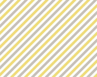 Oh Boy Gray and Yellow Stripes by Riley Blake 1 Yard