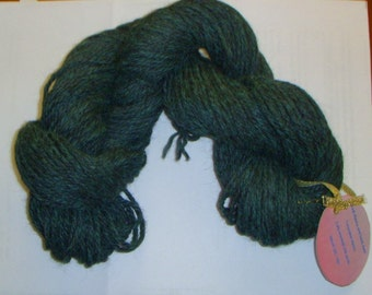 Alpaca Dyed Turquoise blended with black alpaca 3 ply worsted yarn