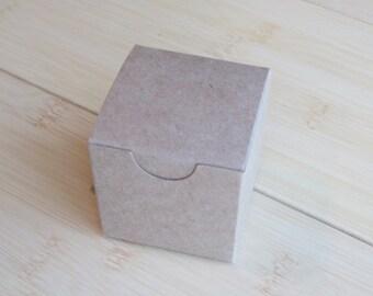 10 Small  2 x 2 x 2 Kraft boxes-Small Kraft Gift Box-Kraft Party Favor Box-Kraft Candy Boxes-Wedding Favor Boxes-Small Kraft Boxes