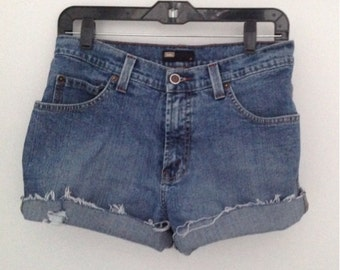 Vintage high waisted jean shorts cut offs Lois jeans denim shorts