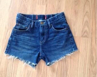 Vintage levi high waisted jean shorts cut offs Levi's denim blue jean shorts size small