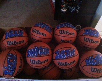 Personalized  basketballs
