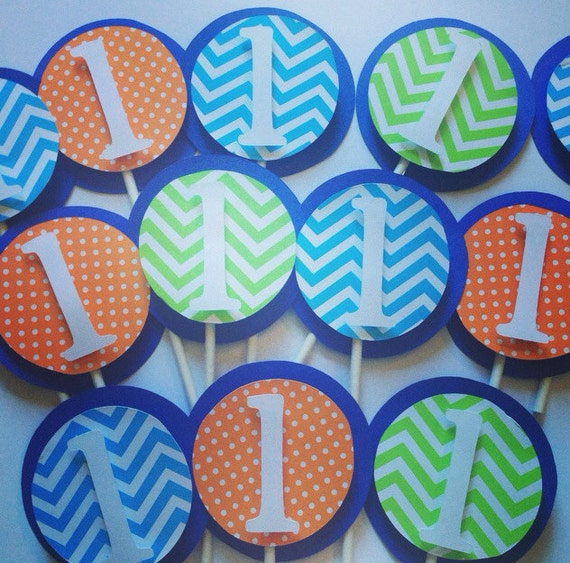 Cupcake toppers,  personalized toppers , set of 12,party decorations