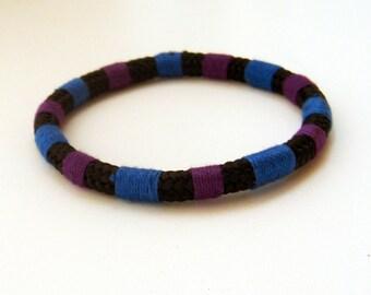 Striped Climbing Rope Bracelet Blue Black Purple Climbing Rope NauticalRope Bracelet Colorful Jewelry Bangle Eco-Friendly