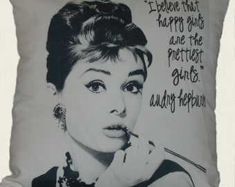 Audrey Hepburn 18X18 Decorative Pillow Cover