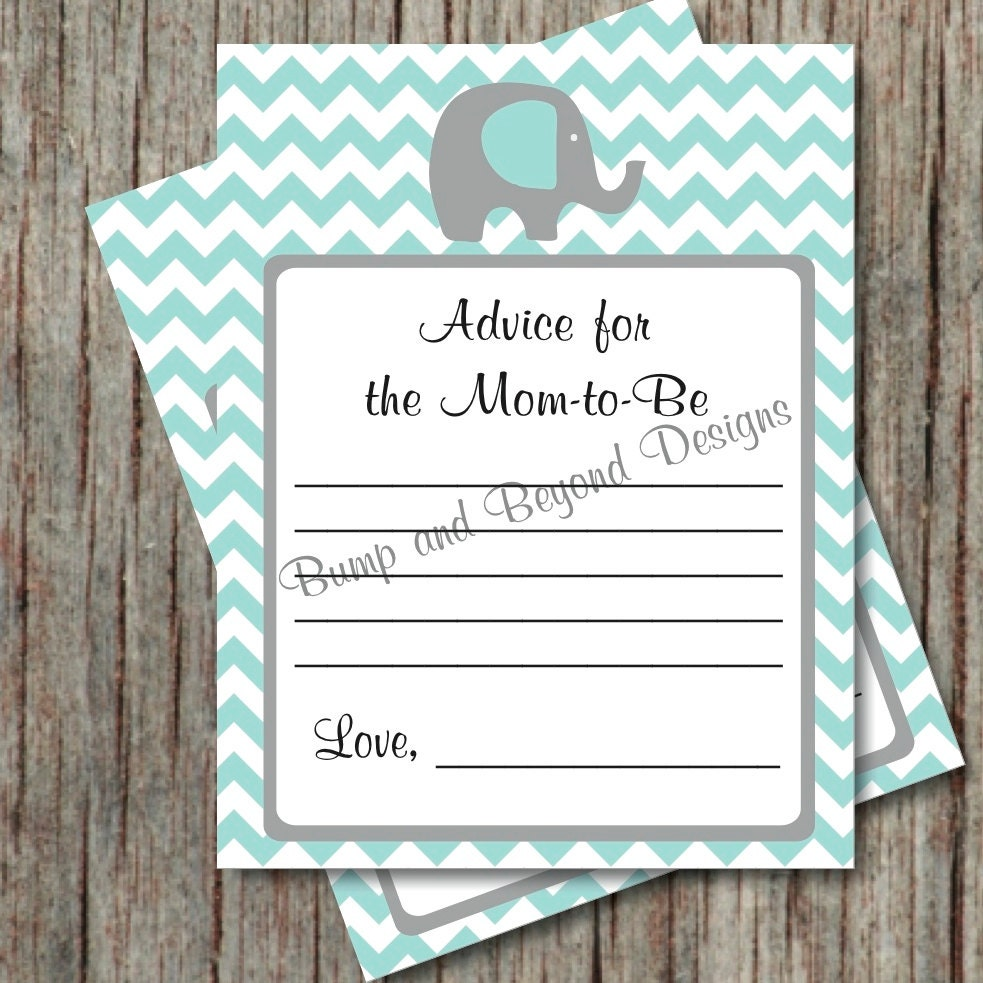 Baby Shower Advice For Mom To Be Cards By BumpAndBeyondDesigns