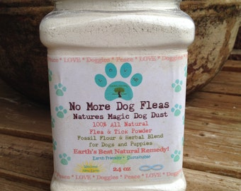 "All Natural Flea & Tick Powder for Dogs, "" No More Dog Fleas"" Natural Remedy"