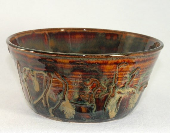 Pottery bowl handthrown stoneware ceramic