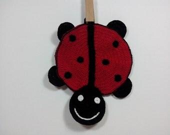 Tutorial Crochet Pattern Potholder Ladybug / Pattern 224 / Tutorial pdf /Permission to sell finished items)