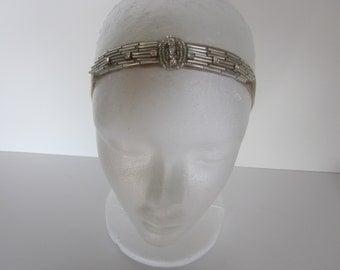 Gatsby headpiece, gatsby headband, silver beaded headband, beaded dress, great gatsby dress flapper dress headpiece dresses headbands