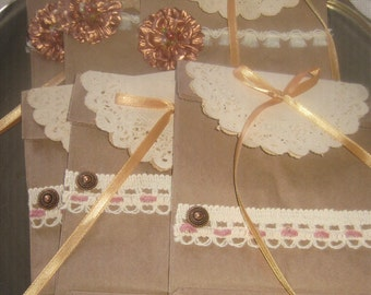 Vintage Gift Bags, Vintage Valentine, Vintage Valentine Gift Bags, Party Favor Bags