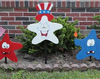 Set of 3 Patriotic Stars