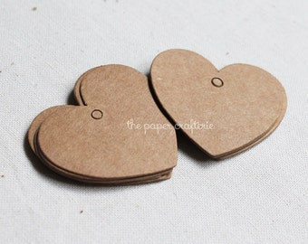 Mini Heart Kraft Paper Gift Tag - 25 pieces