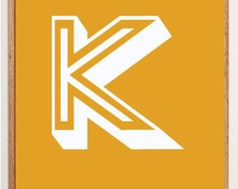Mid-Century Modern Letter K