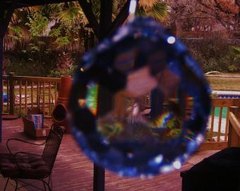 Crystal Ball Prism SET OF 2 Glass Faceted Austria Suncatcher Chandelier 30mm