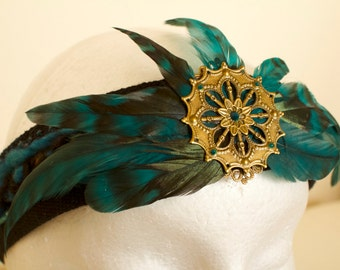 Black Feather Headdress Headband