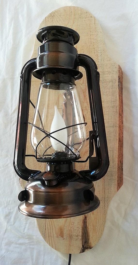 Old Fashioned Electrified Kerosene Lantern With By