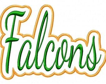 Falcons Text Applique Frames Designs N315
