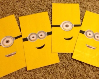 Minion Themed Favor Bags
