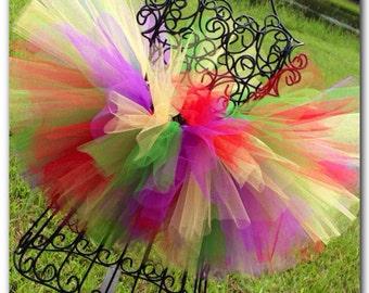Rainbow Tutu Cake Smash Tutu First Birthday Tutu Circus Tutu Bright Colored Tutu