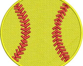 BaseBall/SoftBall Applique and Fill Machine Embroidery  Design 003-1