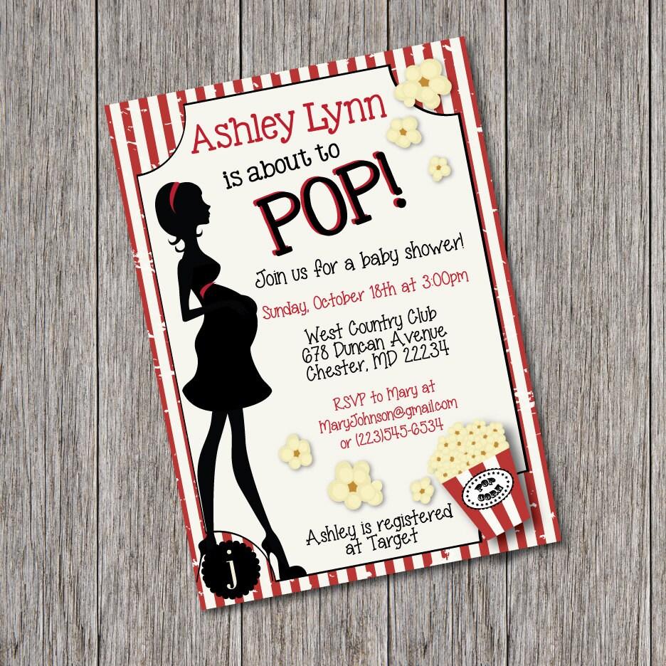 Ready To Pop Invitation Baby Shower as amazing invitations ideas