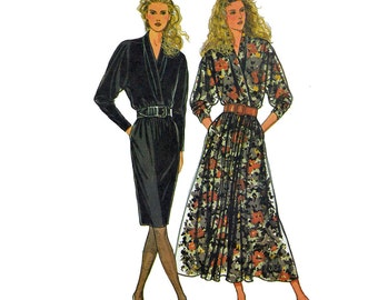 90s Vintage Sewing Patterns / Wrap Bodice Dress Pattern / Simplicity 9841 Bust 32.5 Womens Dress Patterns / 90s Sewing Patterns for Women