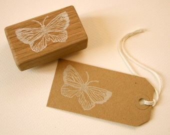 Delicate butterfly stamp - Hand Carved Rubber Stamp