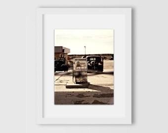 Route 66 Gas Station Print | Vintage Cars | Road Trip | Travel Souvenirs | Oklahoma