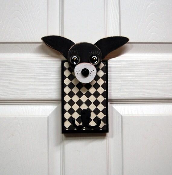 Dog Leash Holder, Reclaimed Wood Chihuaha Leash Holder, Handmade Dog