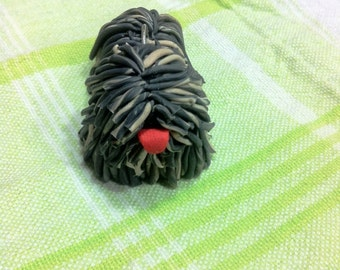 Puli keychain, puli dog key ring - maskoz fako color