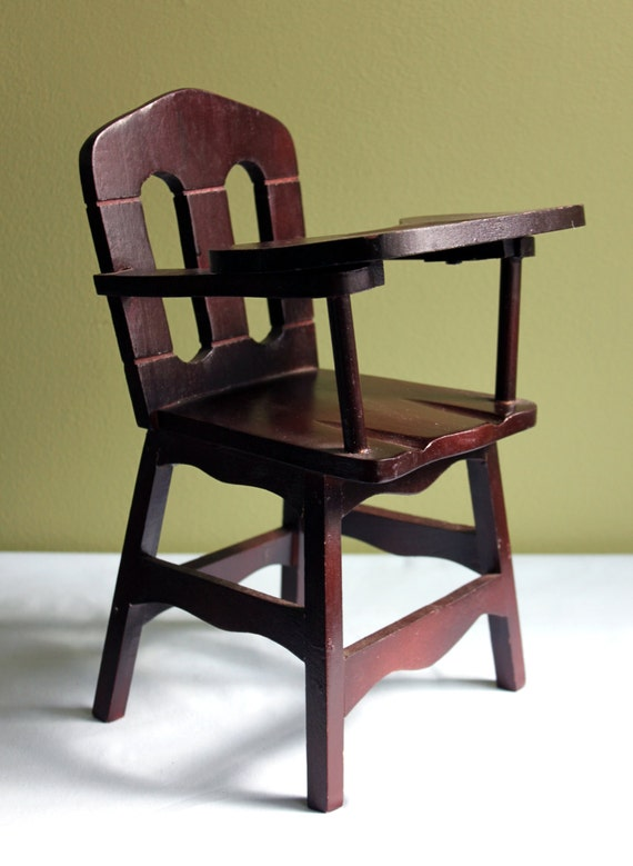 High Chair Small Mini Wood High Chair With Removable Tray
