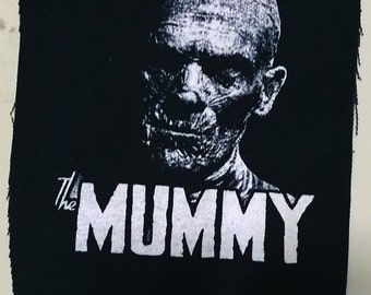THE MUMMY patch goth horror punk classic  monsters Free Shipping