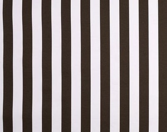 SALE - Premier Prints Bay Brown Stripes Outdor Fabric - Brown and White Vertical Stripe Fabric - Fabric by the 1/2 yard