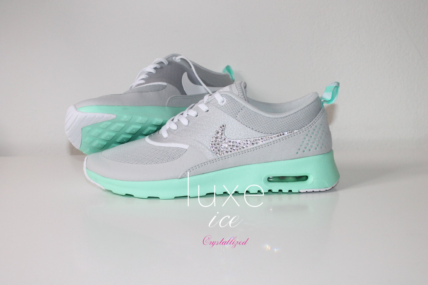 nike air max thea shoes w swarovski crystals detail by luxeice. Black Bedroom Furniture Sets. Home Design Ideas