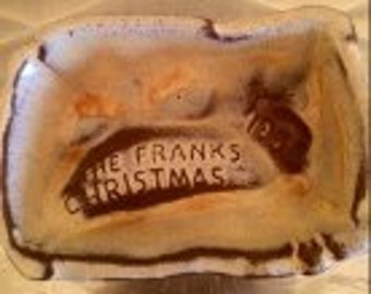 VINTAGE 1958 FRANKOMA POTTERY Christmas Card
