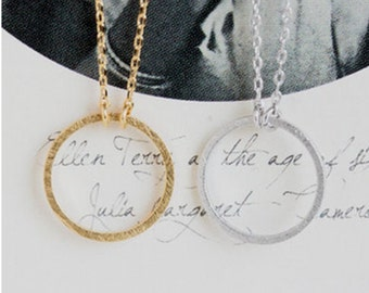 Gold or Silver Circle Necklace, circle necklace, circle jewelry, gold necklace, jewelry, silver necklace, necklace, forever circle